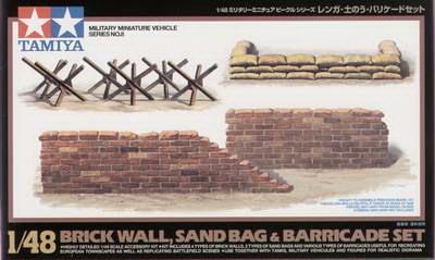 Brick/Sandbag/Barricade Set 1/48