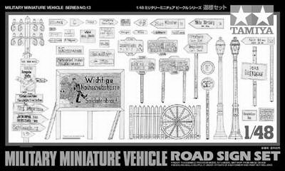 Road Sign Set 1/48