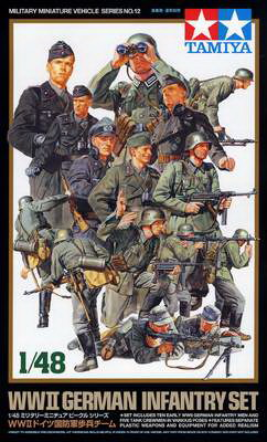 German Infantry Set WWII 1/48