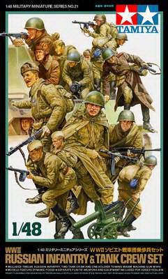 Russian Infantry+Tank Crew 1/48