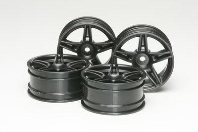 26mm Twin 5-spoke wheels +4 *4 (Black)