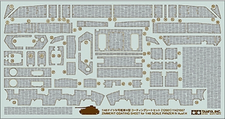 Panzer IV Ausf.H zimmerit Sheet 1/48