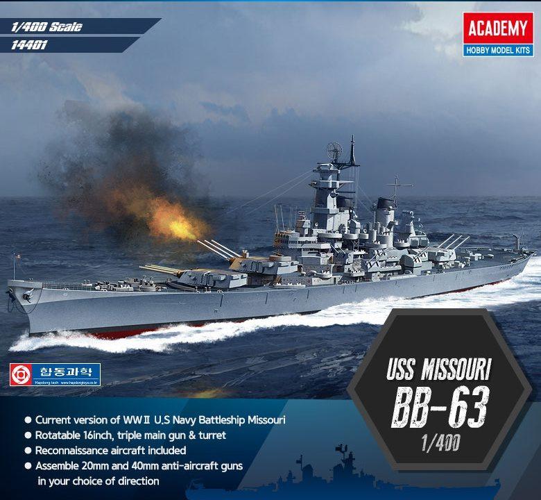 USS Missouri BB-63 1/400