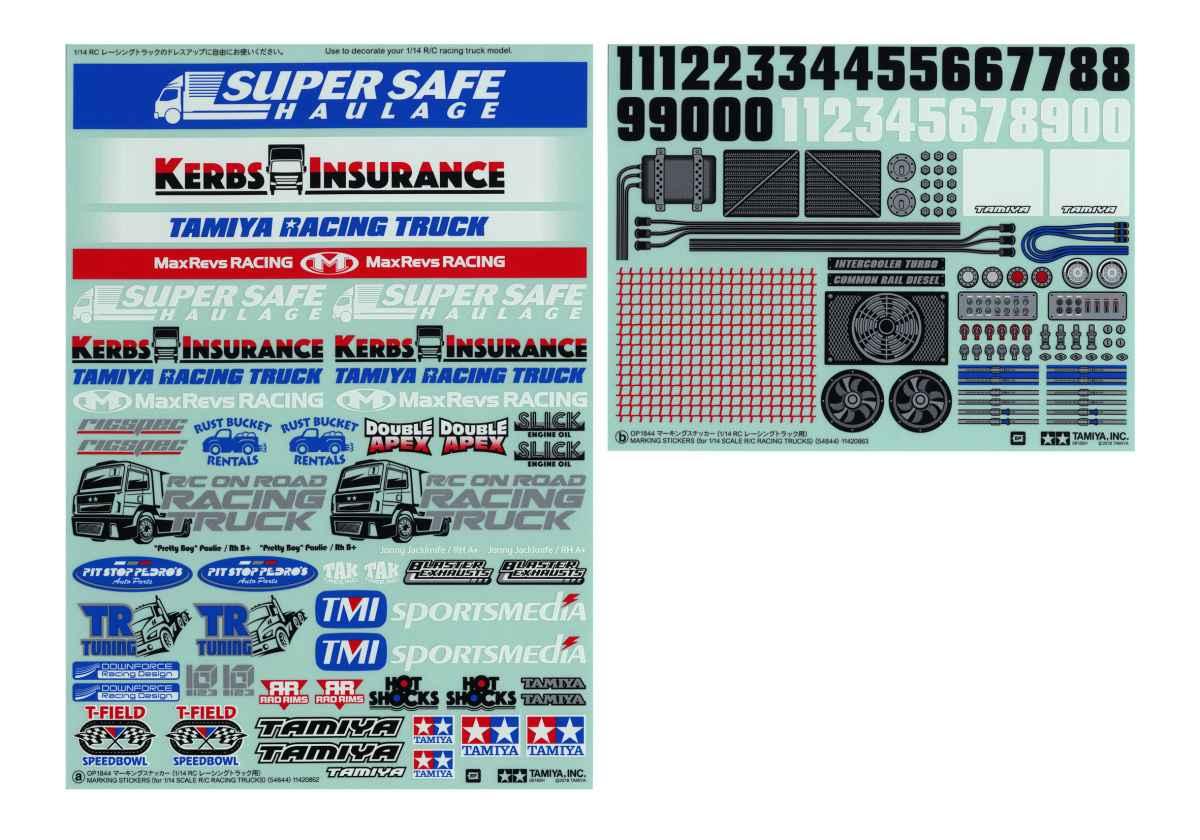1/14 Racing Truck Stickers