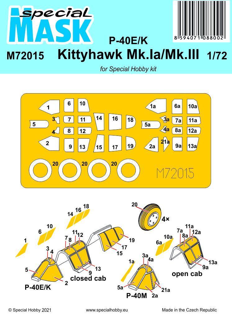P-40E/K Kittyhawk Ia/III Mask