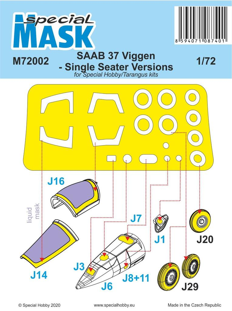 Saab 37 Viggen Single Seater maska