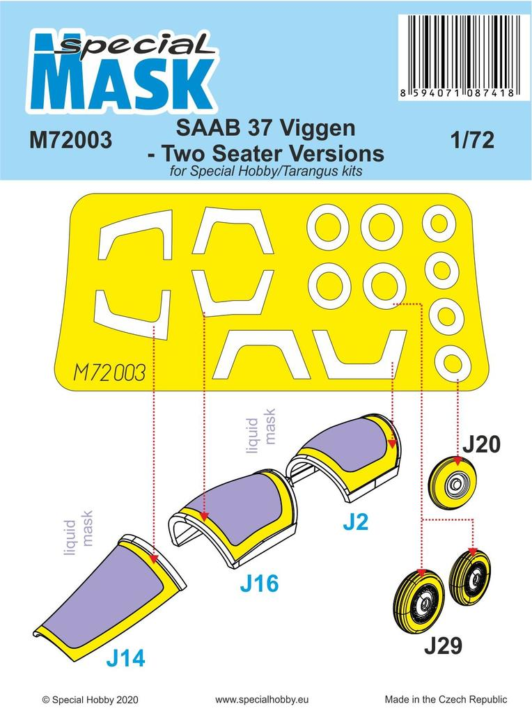 Saab 37 Viggen Two Seater maska
