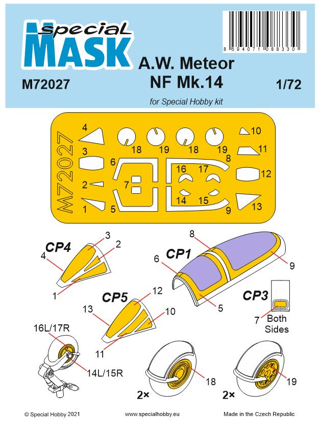 A.W.Meteor NF Mk.14 Mask