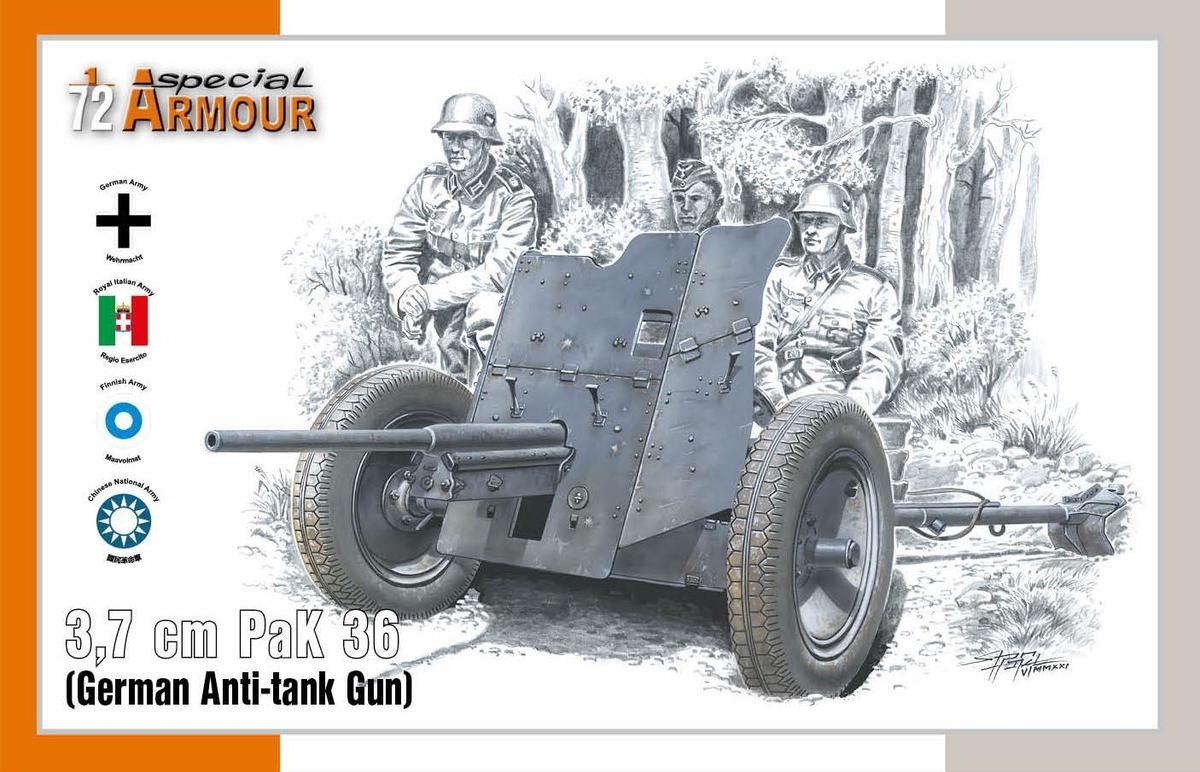 3,7cm Pak 36 German Anti-tank Gun