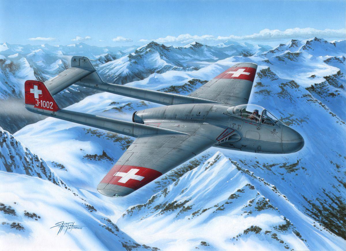 DH.100 Vampire Mk.I Swiss AF