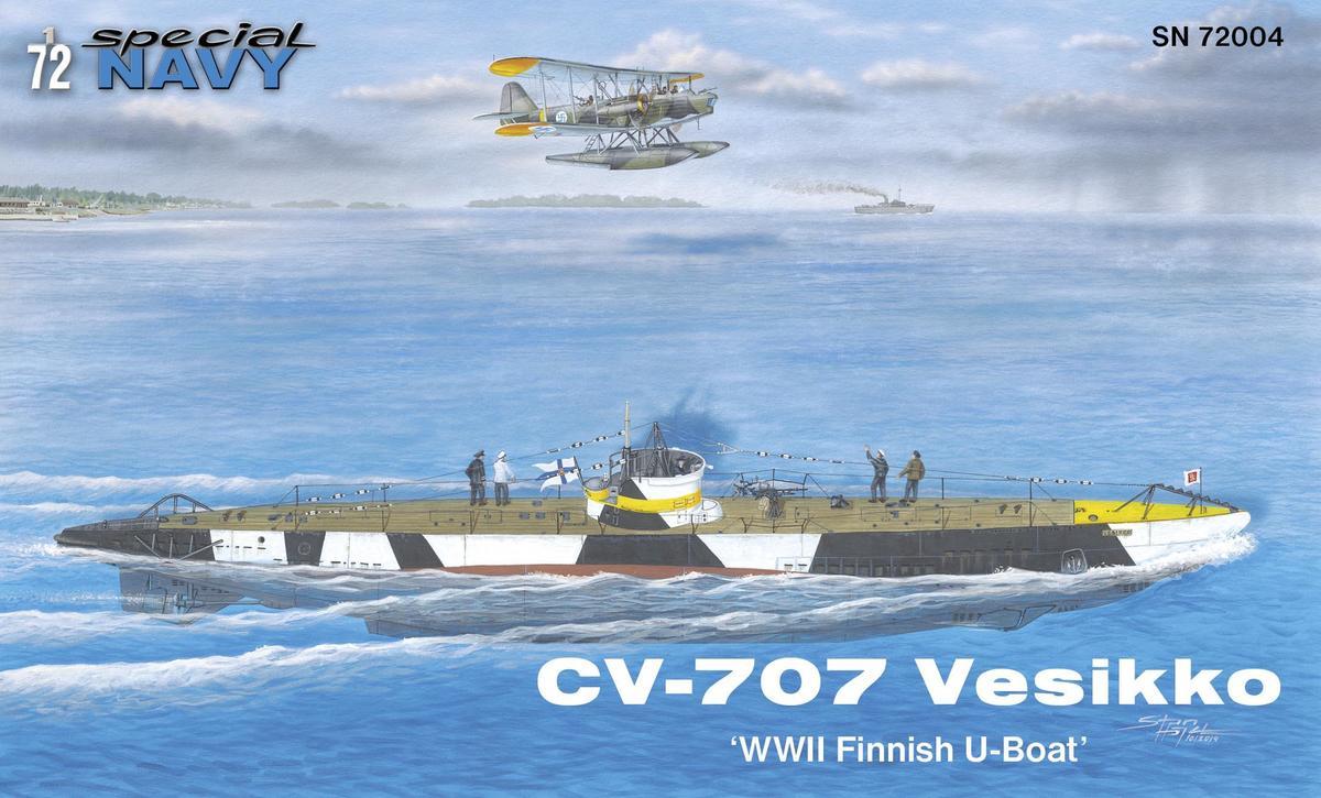 CV 707 Vesikko WWII Finnish U-Boat