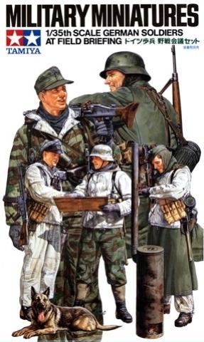 German Soldiers at Briefing