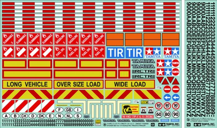1/14 Tractor Trailer Sticker
