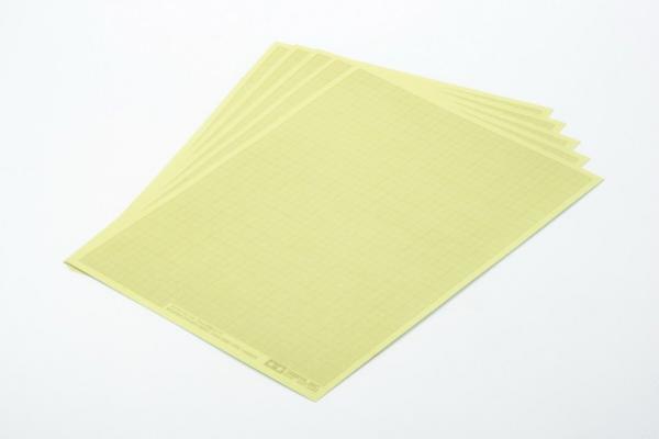 Maskovací papír arch rastr 1mm *5